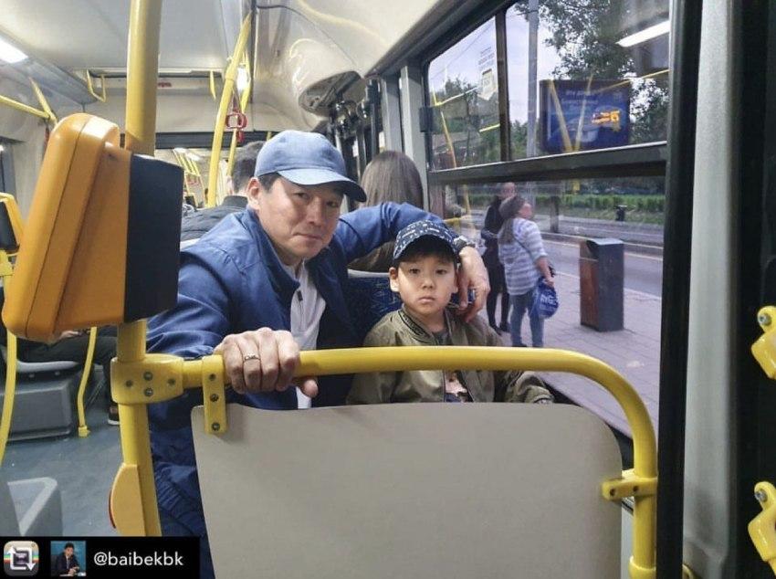 Аким города в нашем автобусе