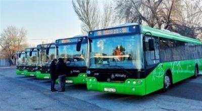 В Алматы на 86-й маршрут пустили новые автобусы