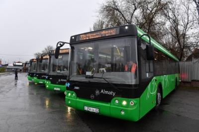 Возобновлен автобусный маршрут № 77, который едет до Mega в Алматы