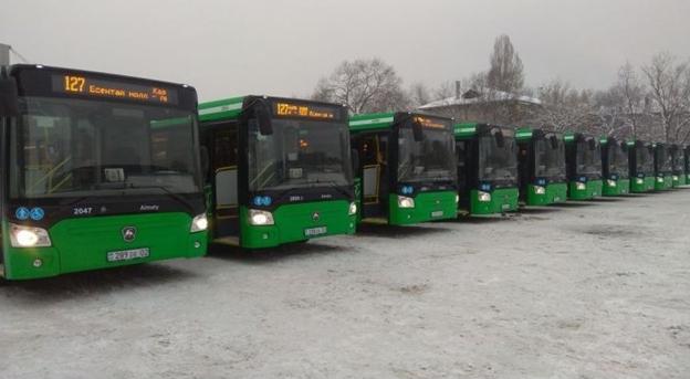 Старые автобусы заменили на маршруте № 127 в Алматы