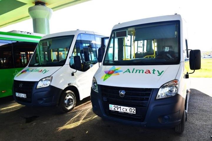 В Алматы новые автобусы выехали на маршрут №103