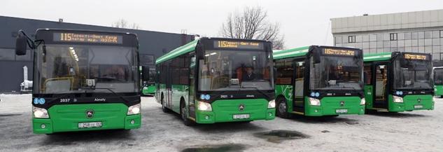 В Алматы обновлены автобусы еще на двух маршрутах: 115 и 131